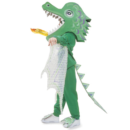 Fire breathing dragon costume