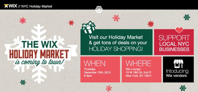wix holiday market
