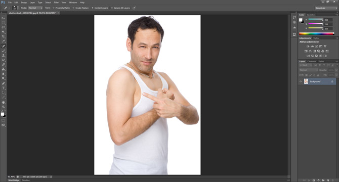 Removing skin blemishes in Photoshop