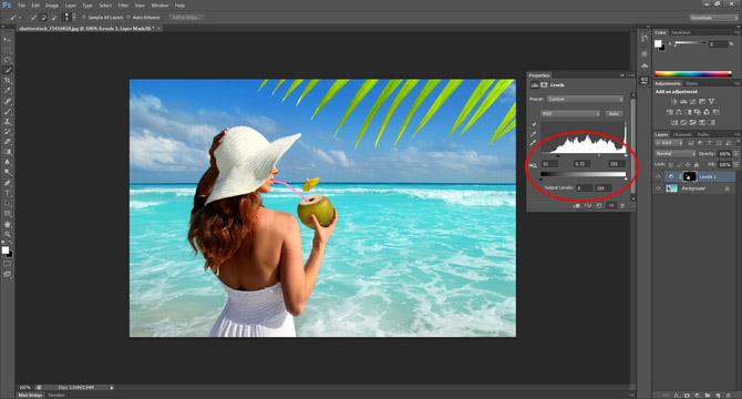Creating a Photoshop suntan
