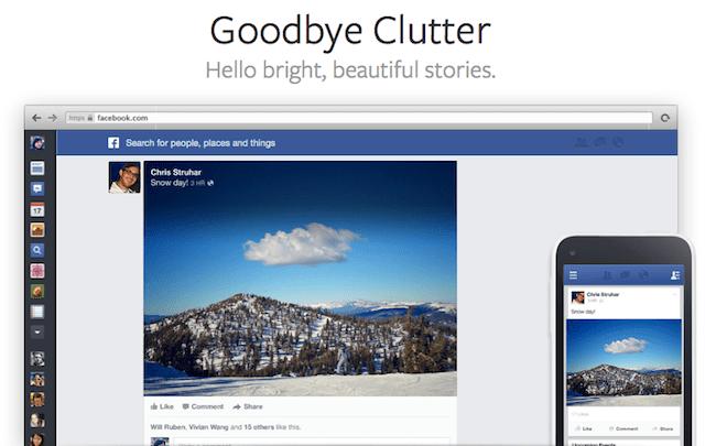 Facebook newsfeed update