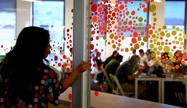 Artist Tomo Mori at the Wix Lounge NY