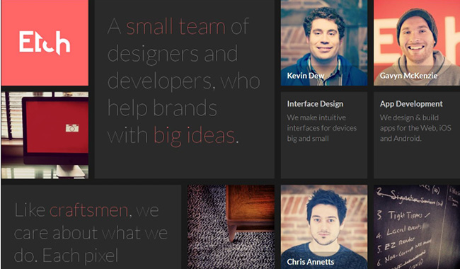 web design trends for Fall 2013