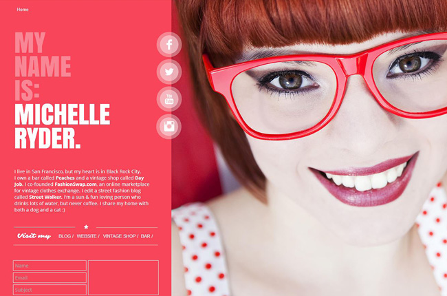 Original Wix Template - Personal Site
