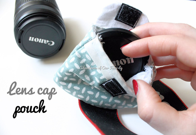 Handmade Lens Cap Pouch