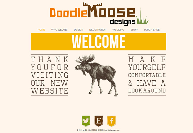 Doodle Moose Know Their Way Around Typography