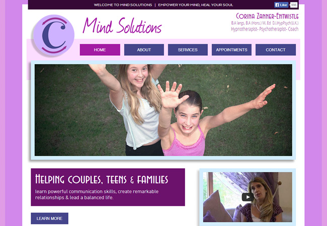 Mind Solutions | Design by Atwoodsites