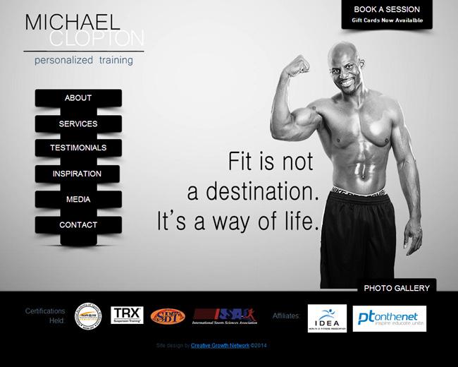 Michael Clopton Wix Website Designed by Karen Lerman