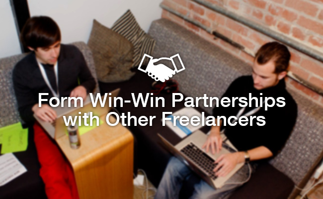 win win partnership with other freelancers