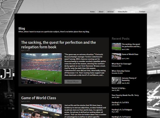 Jonathan Harding's Sports Articles & Blog