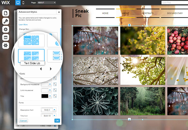 New Text Skin on Grid Galleries: Let the Gallery Multitask