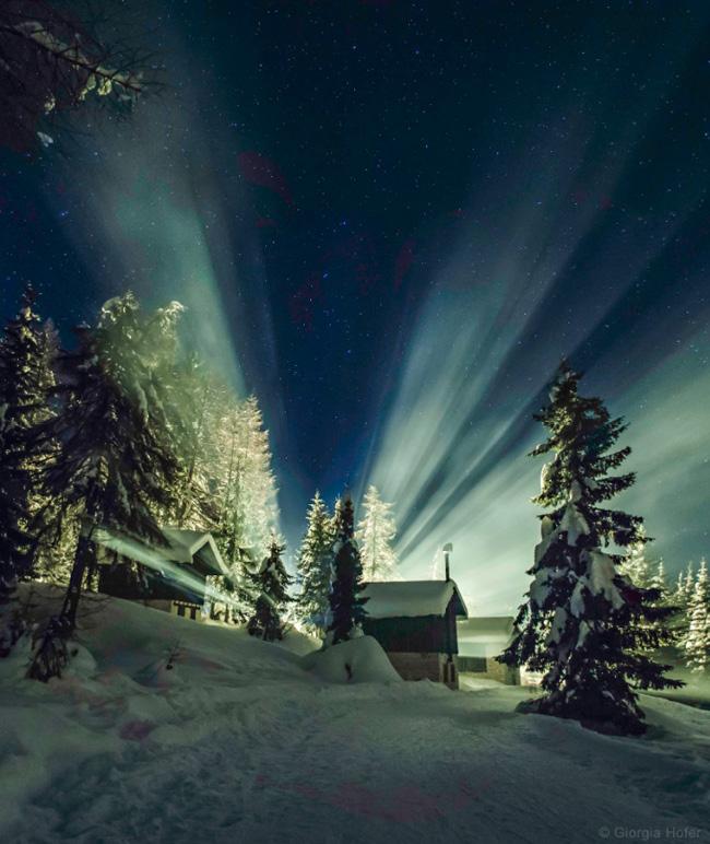 Bright Starry Sky of Cibiana Pass, Dolomites, Italy by Giorgia Hofer