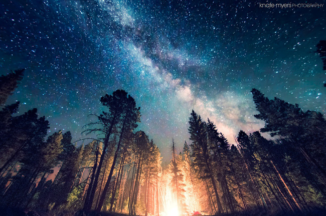 Night Sky in New Mexico by Knate Myers