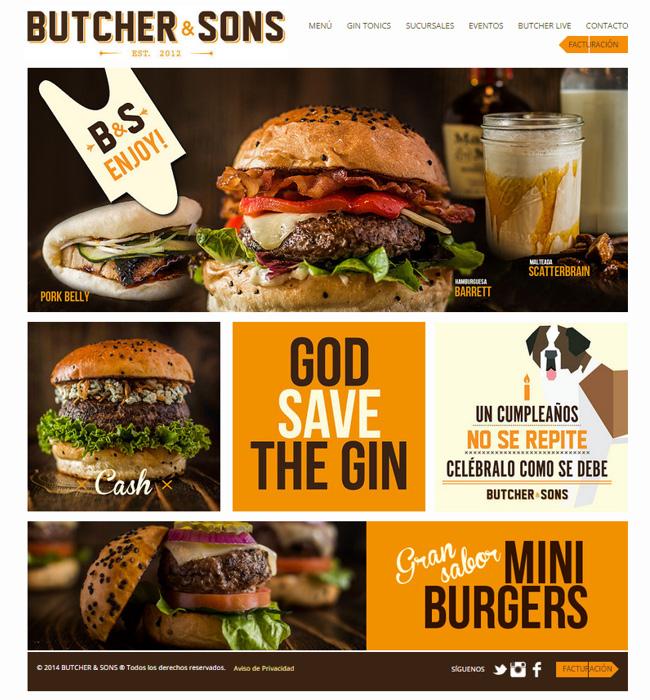 Butcher & Sons' website