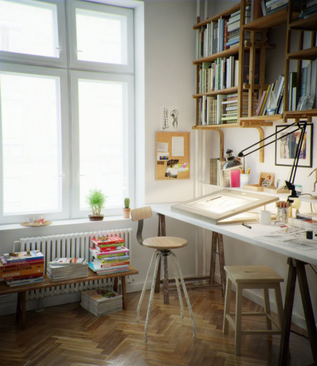 Interior inspiration creative setups for your home office - Beautiful home office interior ...