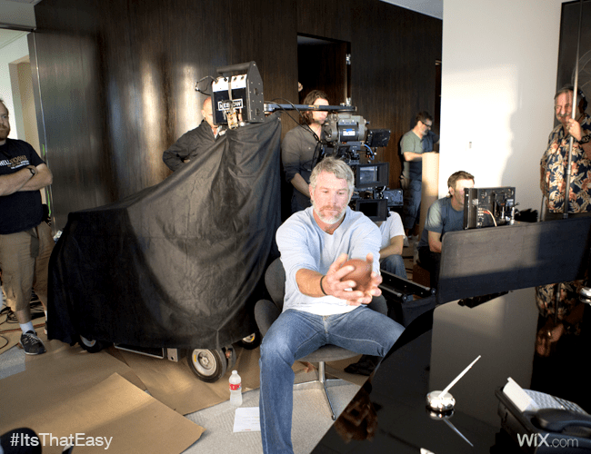 Kicking It With NFL Legends: Behind The Scenes Of Wix' 1st Super Bowl Ad