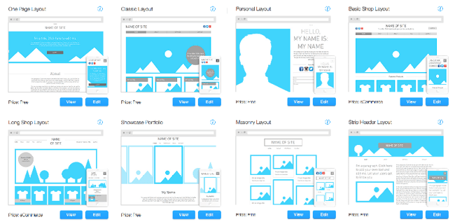 Blank Templates from Wix