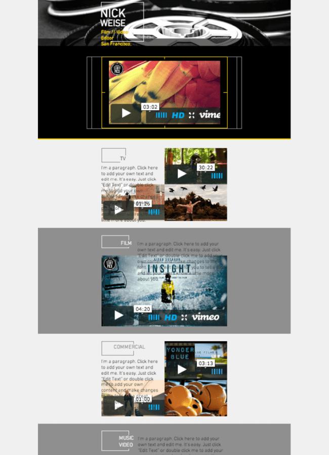 Film Editor Website