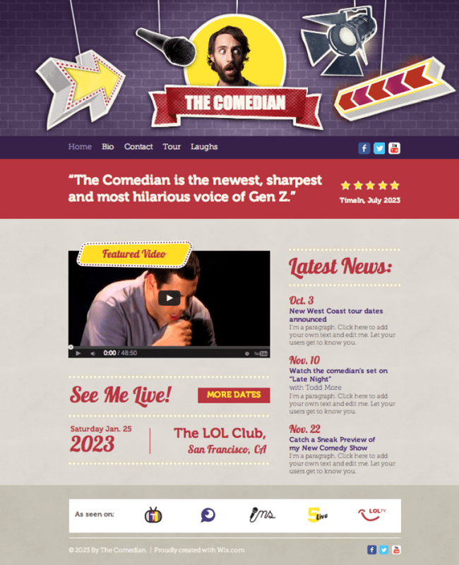 Comedian Website