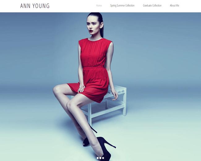 Minimalist Fashion Designer Portfolio