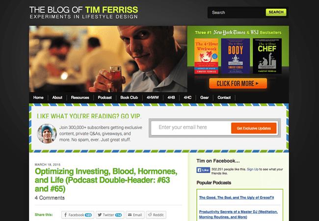 The Blog of Tim Ferriss