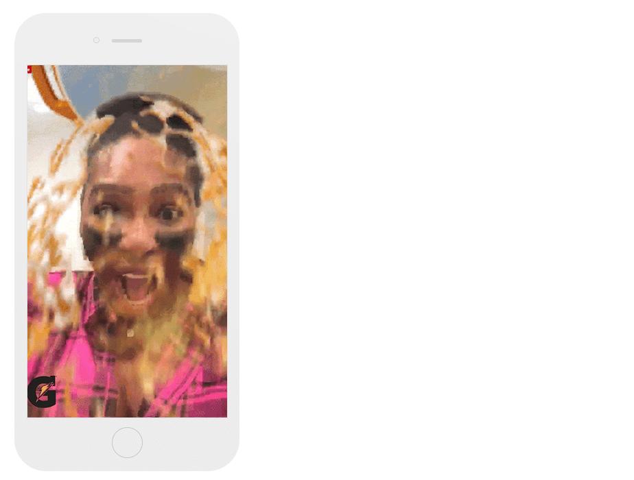 Gatorade's Snapchat Dunk Filter