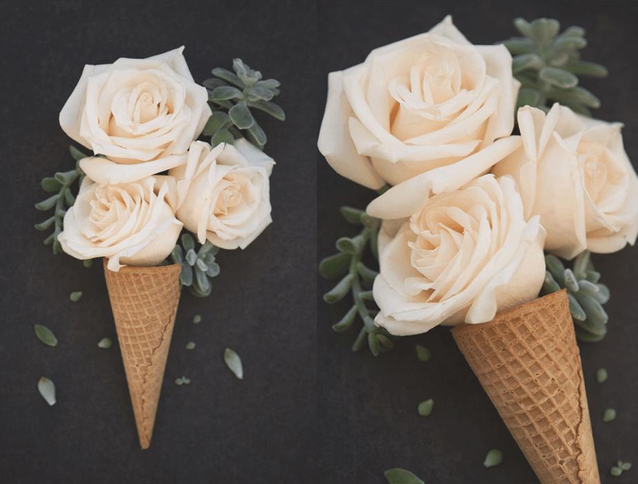 Ice cream flower