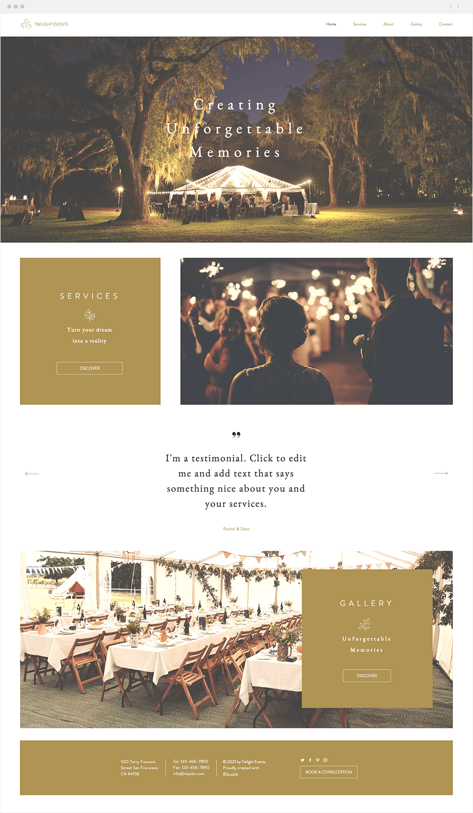 Wix Template - Event Planning