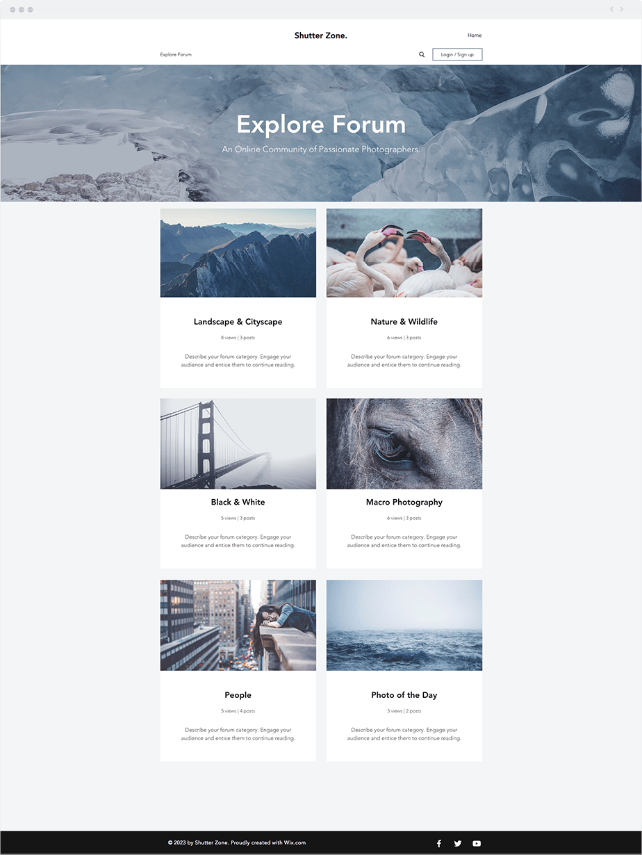 Wix Template Photography Forum