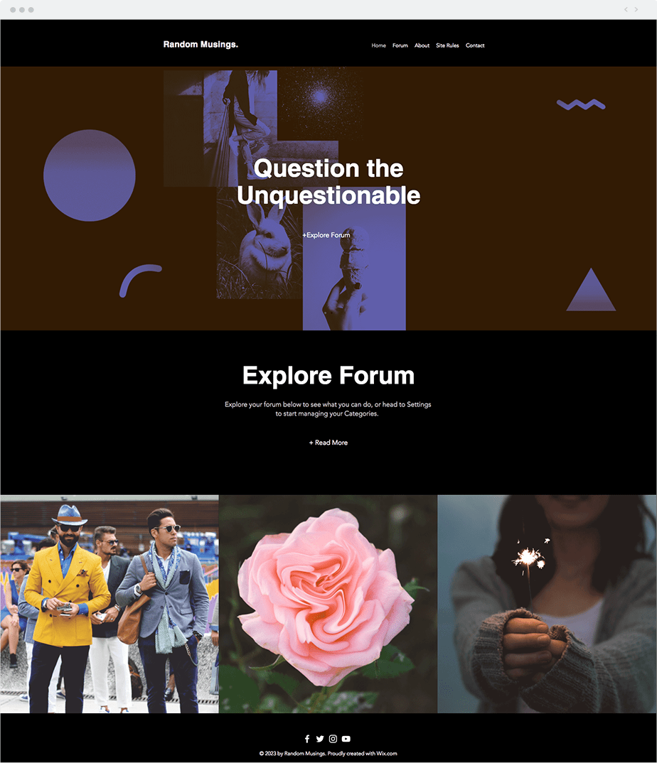 Wix Template - Social Forum
