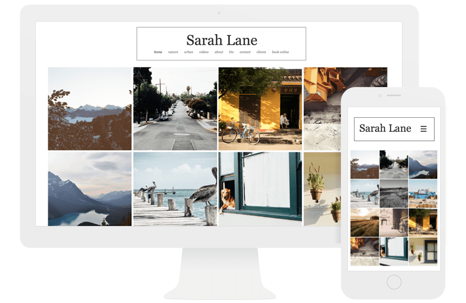 wix editor responsive website for photographer