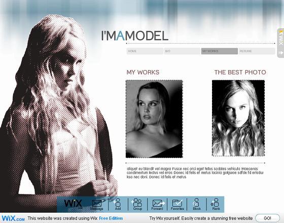 """MySpace Model"" Template"