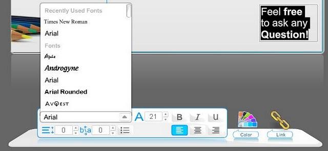 Wix Editor - text editing tool