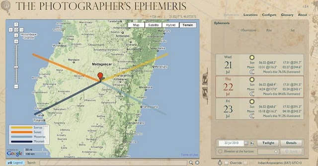 6 Must Have Online Photography Tools The Photographer's Ephemeris