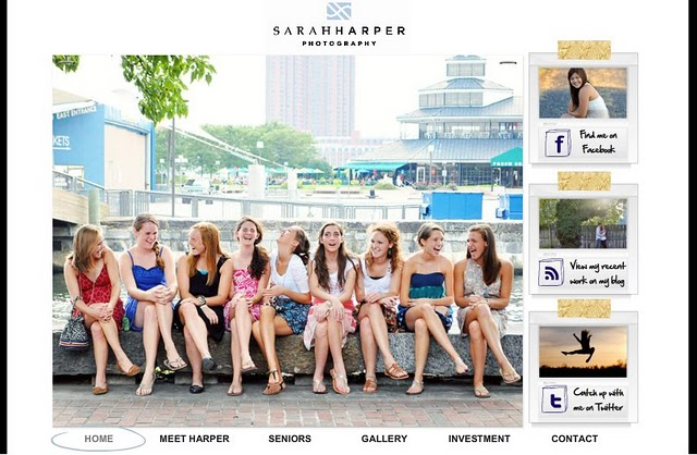 Sarah Harper Photography website created using Wix website builder