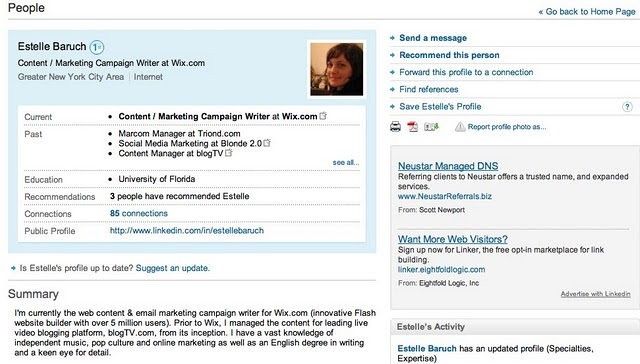 Personal LinkedIn Profile