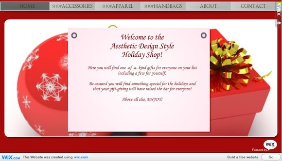 Aesthetic Design Holiday Shop
