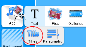 Title Texts in the Website Builder
