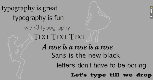 Web Design Resolutions for 2011 - Typography is great