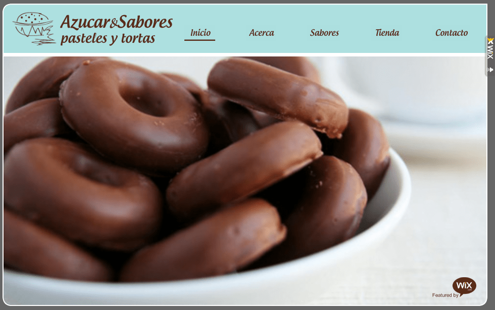 Página Web Azúcar y Sabores