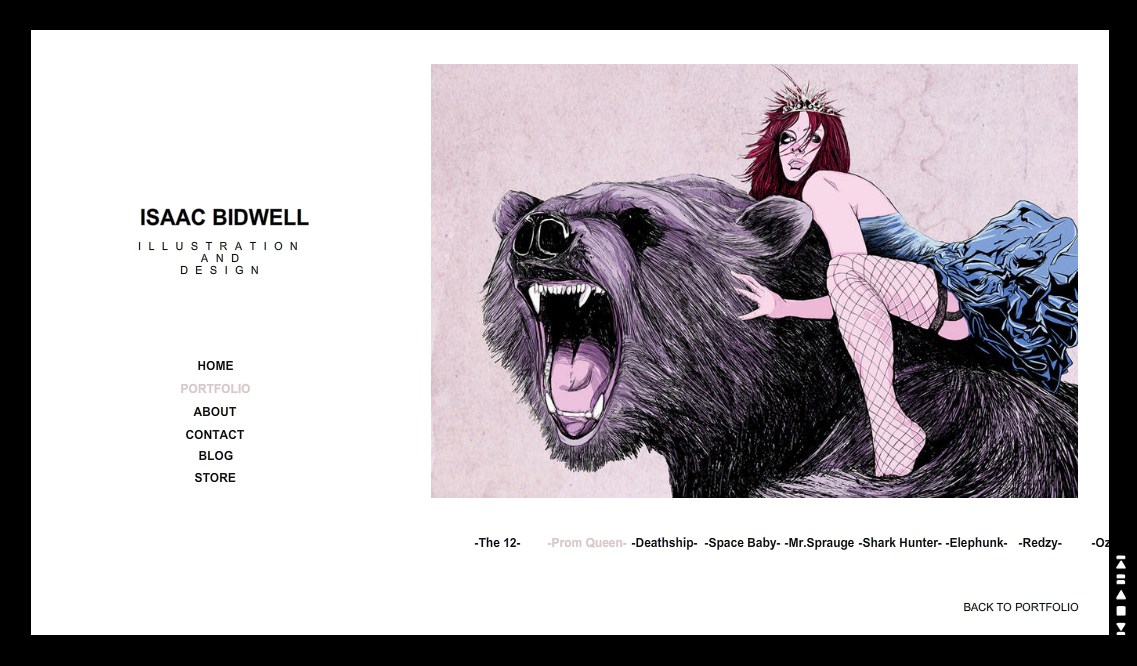 Wix Art Portfolios Showcase : Isaac Bidwell