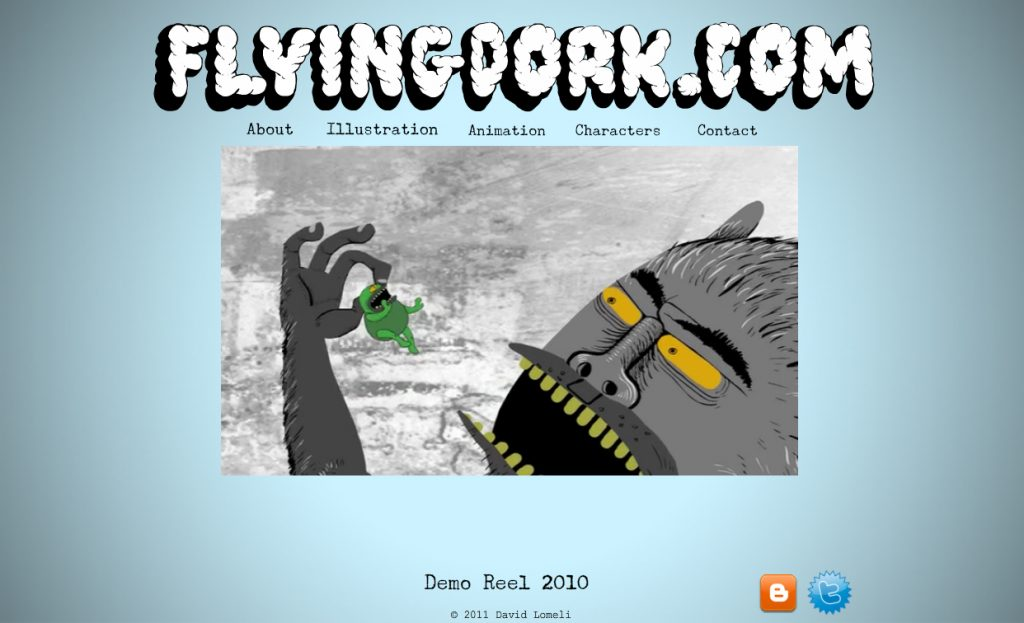 Wix Art Portfolio Showcase: Flying Dork