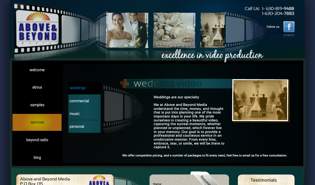 Chris Mohr's website after Wix Pro Designer Botti Barron's makeover