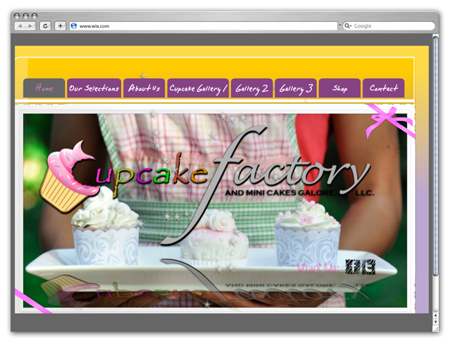 Wix Website Showcase: Cupcake Factory