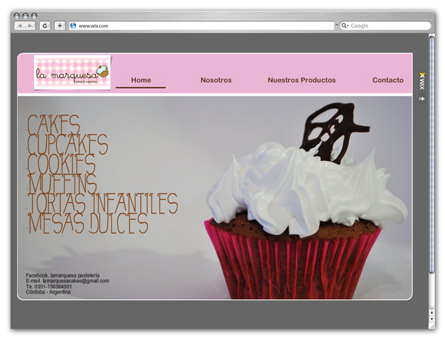 Wix Website Showcase: La Marquesa Cakes