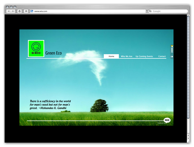 Wix Website Going Green