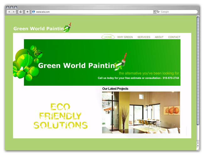 Green Wix Websites