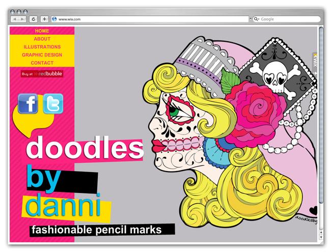 Sitio Wix DoodlesbyDanni