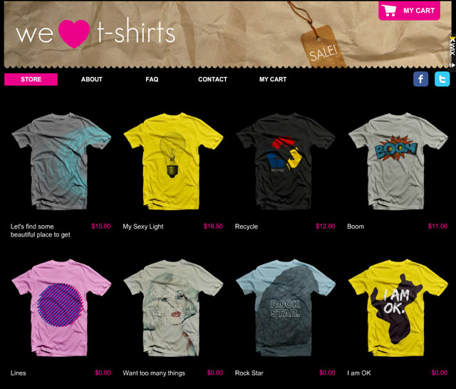 We Love TShirts Plantilla