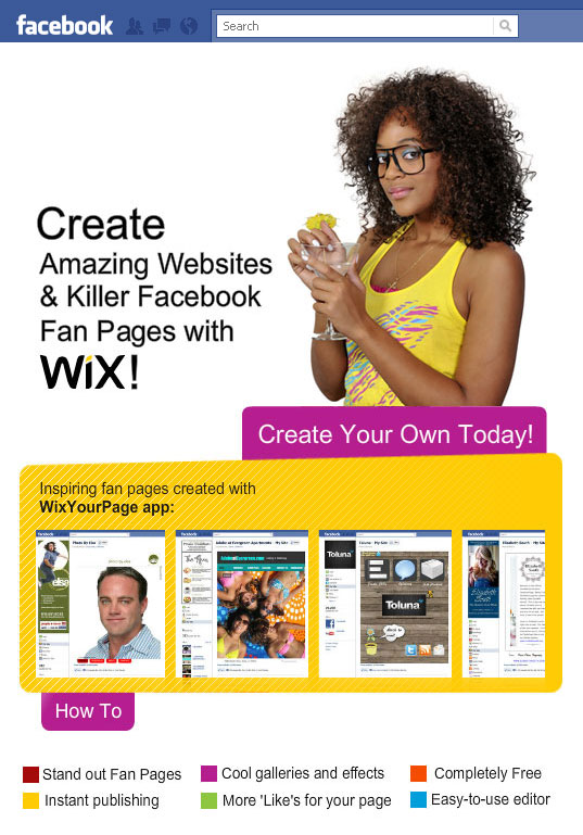 Wix for Facebook Fan Pages